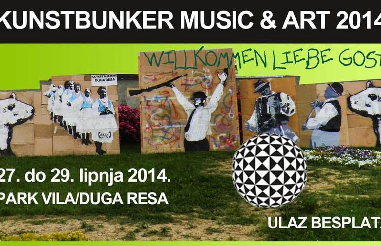 Kunstbunker music & art festival 2014. plakat