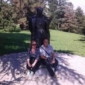 Marina Novaković Matanić, Žarko Latković i drug Tito. Foto: Facebook arhiva