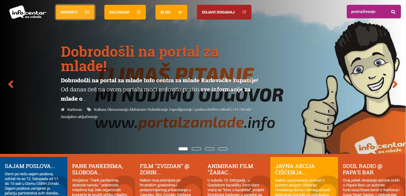 Info portal za mlade