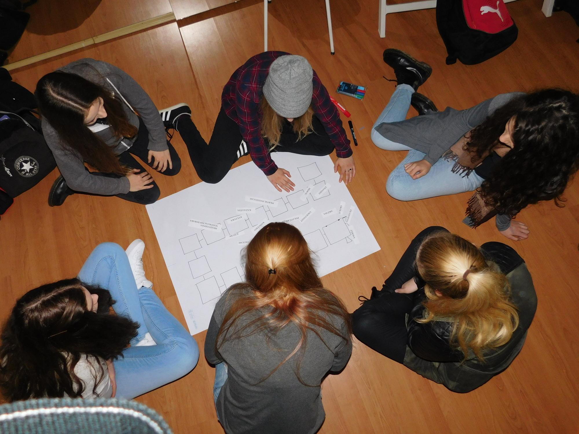 """Radionica """"Aktivno građanstvo i građanska participacija"""" održana je 19. veljače 2016. godine u Maloj urbanoj zajednici u Karlovcu u sklopu projekta """"Mladi u javnim prostorima"""". Foto: KA-MATRIX"""
