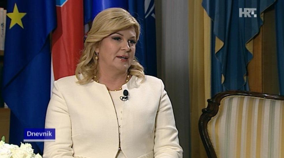 Kolinda Grabar-Kitarović. Screenshot