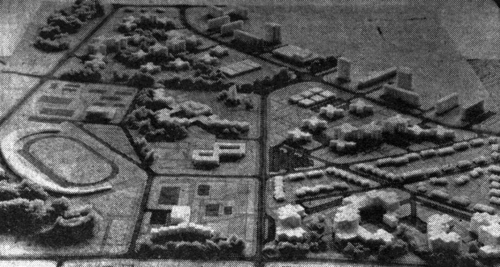 foto_09 : maketa dijela PUP-a Luščić koji se odnosi na prostor bivše vojarne (1971.)