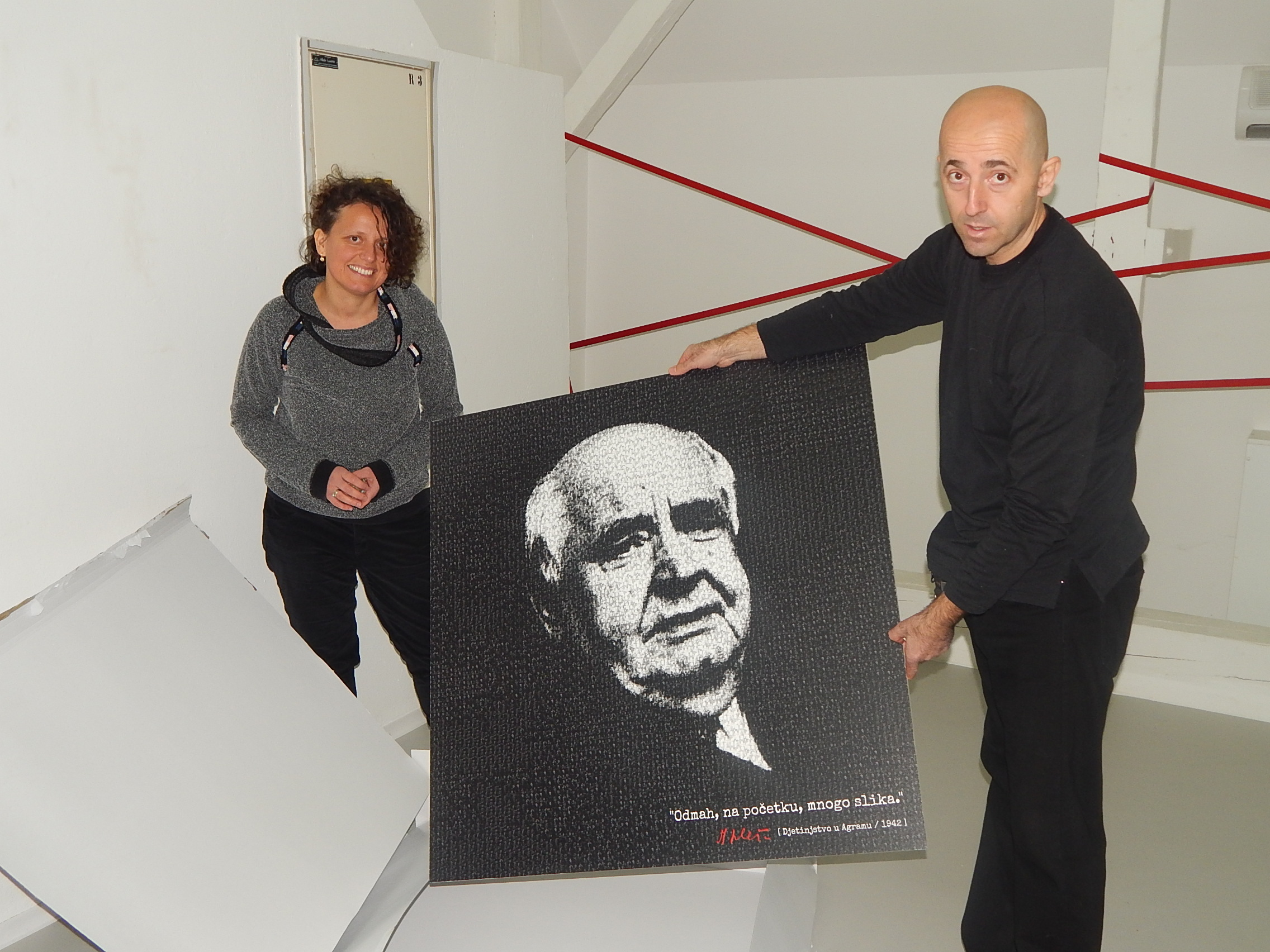Antonija Škrtić i Josip Vrančić. Gradski muzej Karlovac, 21. 12. 2016. Foto: Marin Bakić