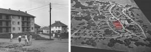 """_dvije dvokatnice u radničkom naselju """"Jugoturbina"""" smještene prema urbanističkom planu arhitekta Vlade Antolića"""