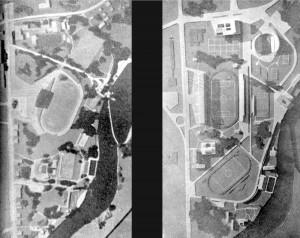 _prvonagrađeni i drugonagrađeni natječajni radovi za Fiskulturni park na Vunskom polju 1953. godine.