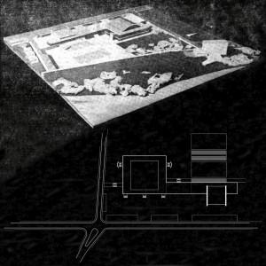 _maketa i shema rješenja cjelokupnog sportskog kompleksa sa zatvorenim i vanjskim igralištima
