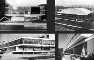 _karlovačka sportska dvorana u kontekstu hrvatske arhitekture 60-ih godina: V. Richter - YU paviljon za EXPO (1958.); R. Nikšić, N. Kučan - Radničko sveučilište (1955.-61.); M. Haberle, M. Jurković, T. Zdvorak - Koncertna dvorana Vatroslav Lisinski (1958.-73.); J.De Luca, A. Rožić, M. Salaj - Hotel Maestral (1965.)