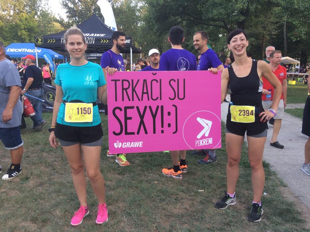 Sandra Živanović i Morana Sabljić, Grawe noćni maraton, Zagreb, 26. 8. 2017. Foto: Livija Stanišić