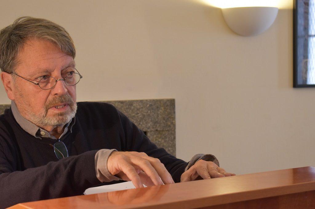 Vjeran Zuppa. Komemoracija za Stanka Lasića organizaciji Hrvatskog društva pisaca, Zagreb, 10. 10. 2017. Foto: Marin Bakić