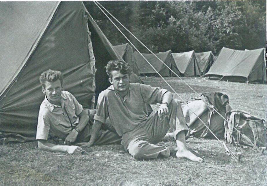 Vlado Bojkić, Radovan Radovinović, Sutjeska 1961. Izvor: privatna arhiva Radovana Radovinovića