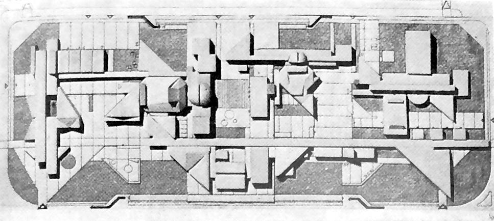 Maketa prvonagrađenog rada za Kulturni centar Novog centra Karlovca s gradskom bibliotekom 1971. godine. (foto: ČIP)