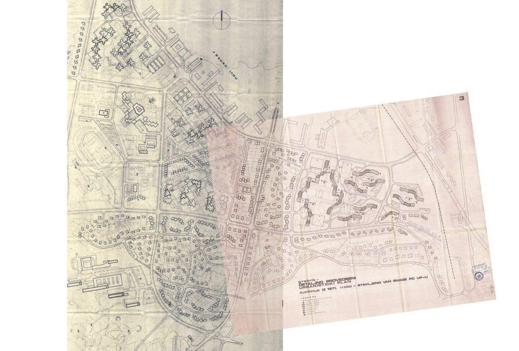 Provedbeni urbanistički planovi Luščić - Grabrik iz 1971. godine.