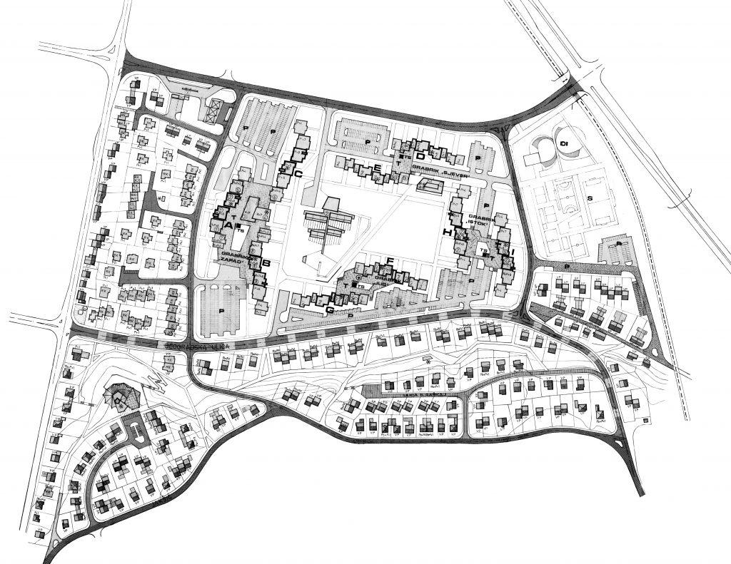 Provedbeni urbanistički plan Grabrik iz 1978. godine.