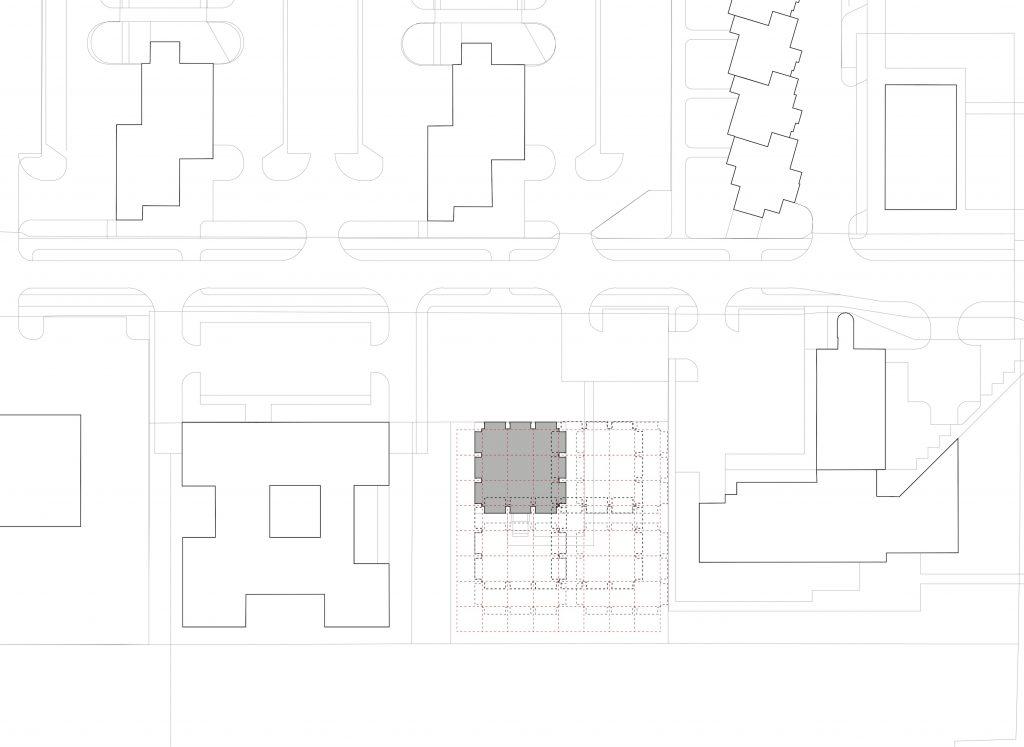 """Situacija zgrade Galerije """"Vjekoslav Karas"""" i mogućnosti strukturnog rasta zgrade na osnovu zadanog konstruktivnog i strukturalnog rastera"""