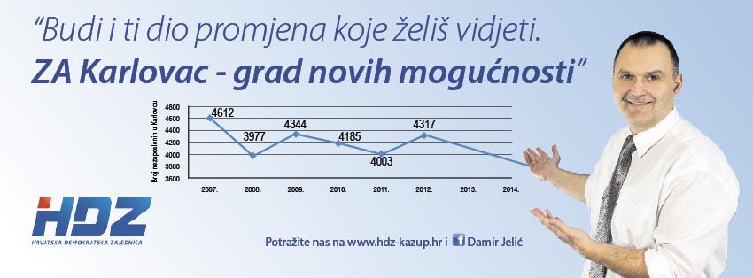 Plakat HDZ-a, izbori 2013. Izvor: facebook stranica Damira Jelića