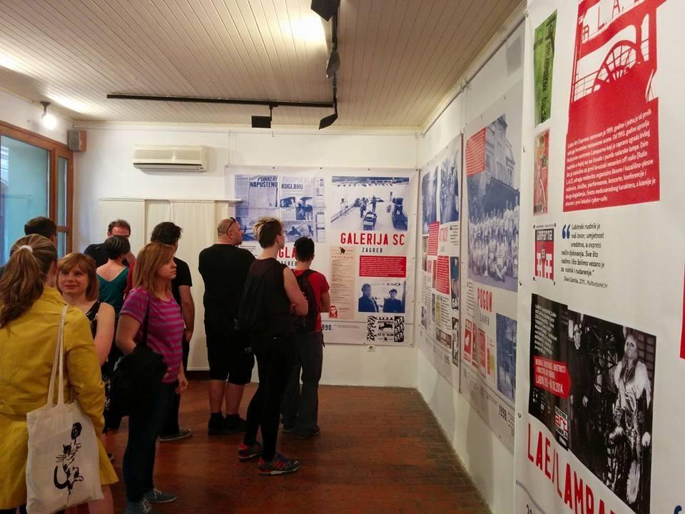"""Otvaranje izložbe """"Nezavisni prostori"""" u Karlovcu. Foto: Savez udruga Klubtura. http://www.clubture.org/"""