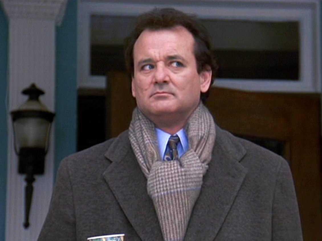 Bill Murray u filmu Groundhog Day. Screenshot.