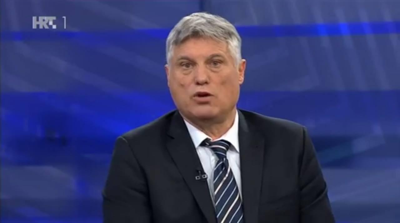 Miroslav Lazanski u Otvorenom Hrvatske radiotelevizije 13. siječnja 2016. godine. Foto: Screenshot