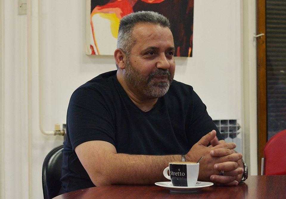 Hassan Haidar Diab na Polkaviewu u Knjižnici za mlade u Karlovcu 27. travnja 2016. Foto: Marinko Polović