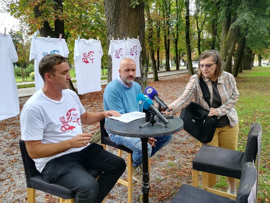 Nikola Vukmanić, Damir Mateljan, Vesna Horvat, Karlovac, 4. 9. 2018. Foto Marin Bakić