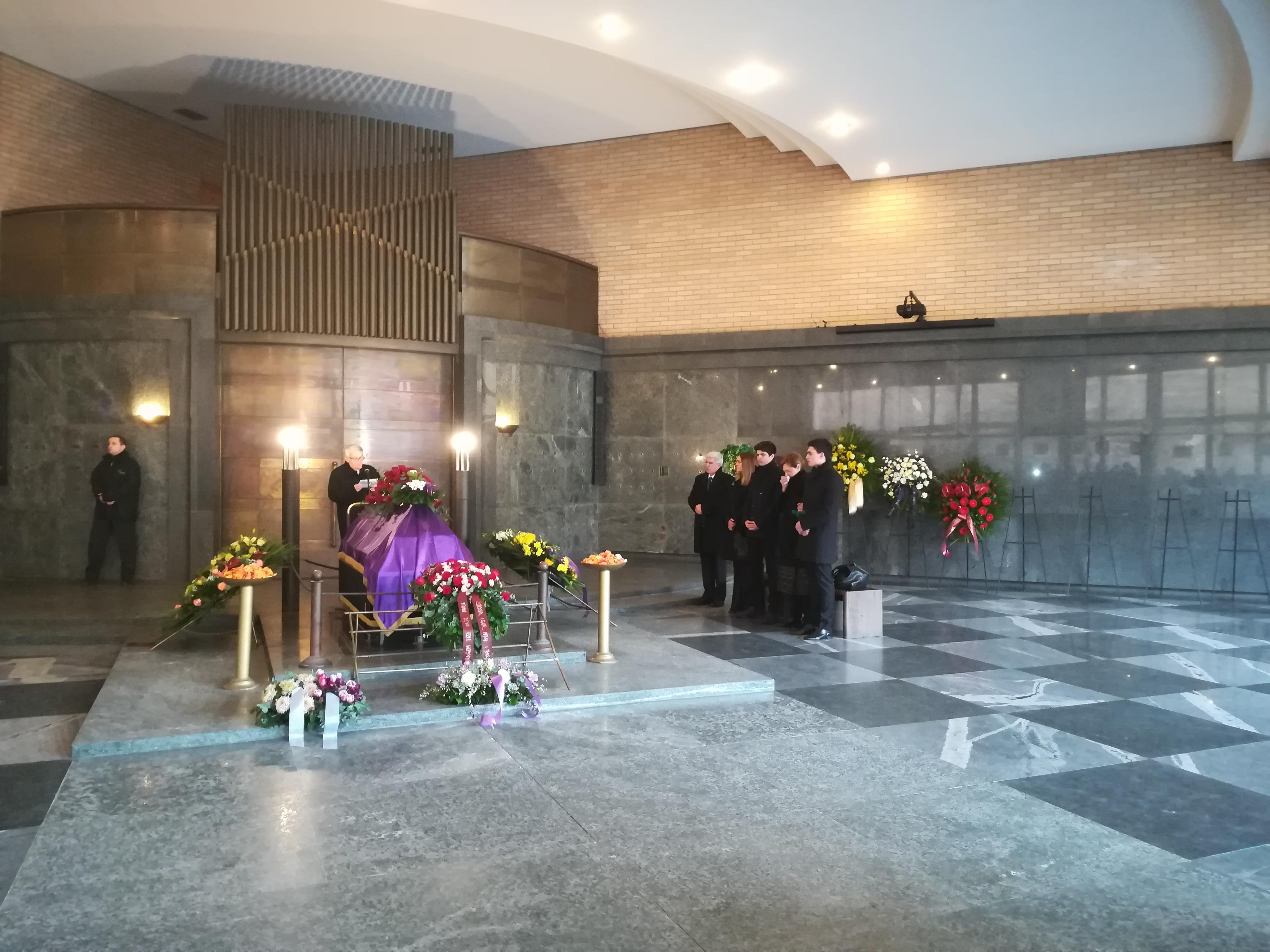 Sahrana Steve Maoduša, Krematorij, Zagreb, 11. 2. 2019. Radovan Radovinović drži govor. Foto: Marin Bakić